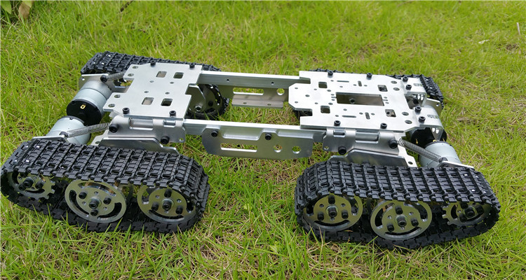 DIY Tracked vehicle robot obstacle crossing chassis Smart Tank car diy tracked robot