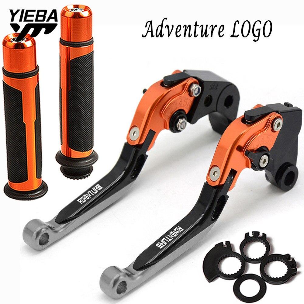 Pour KTM 990 Adventure 2006-2013 2012 2011 2010 accessoires moto leviers d'embrayage de frein de moto poignée poignées de barre de main extrémités