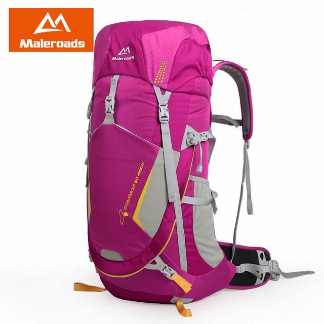 Maleroads 50L กลางแจ้งแคมป์กระเป๋าเป้สะพายหลังปีนเขากระเป๋าผู้ชายผู้หญิงกลางแจ้ง Breathable เดินป่าตั้งแคมป์ปีนเขา
