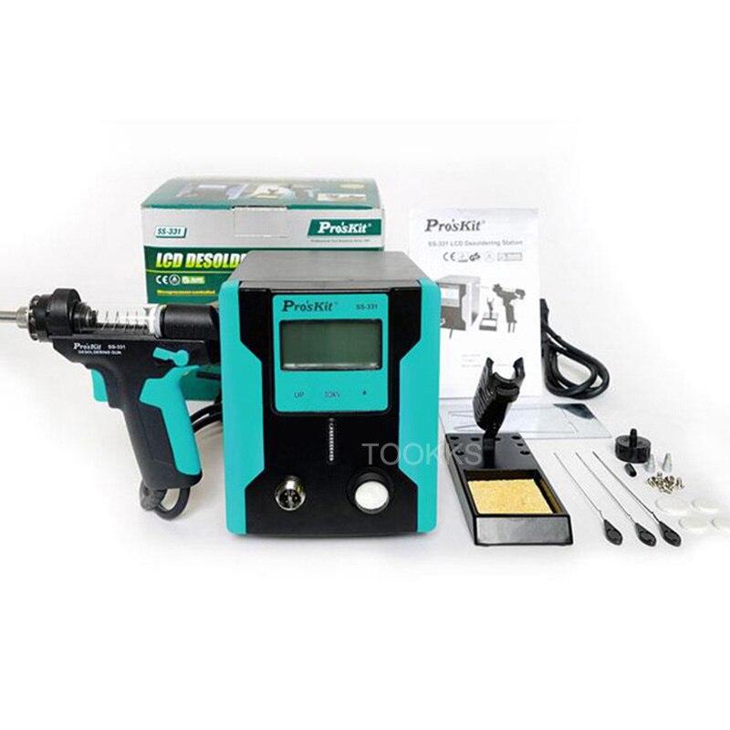 Pro'sKit SS-331H ESD pompe à dessouder électrique LCD numérique BGA dessouder aspiration absorber pistolet à souder sous vide ventouse pistolet BGA outils