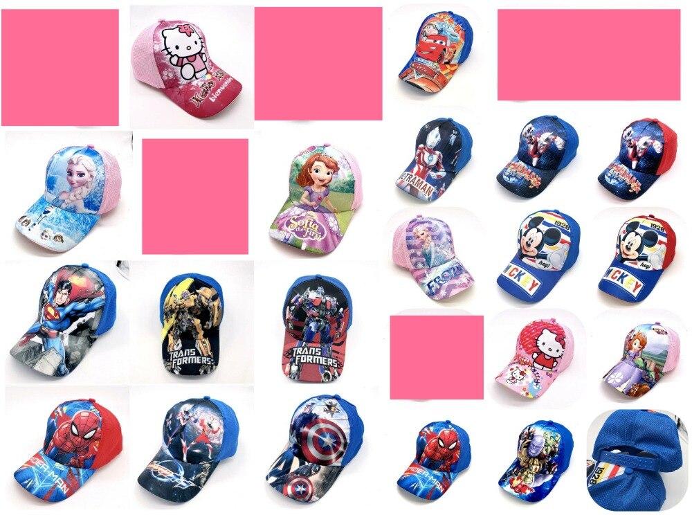 2019 Mode Neue 1 Stücke Beliebte Cartoon Kinder Liebe Avengers Mickey Minnie Sofia Mode Sonne Hut Casual Cosplay Baseball Cap Kinder Party Geschenke