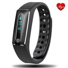 HB02 NFC Inteligente Pulseira Esporte Freqüência Cardíaca Rastreador De Fitness Pedômetro Monitor de Sono Chamada Mensagem Lembrar Smartband para Android iOS