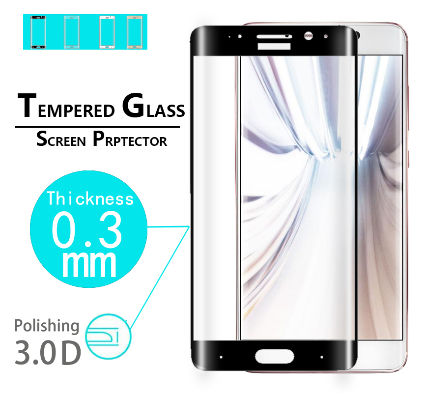 "Full cover 3D Curved Edge tempered glass guard film For Huawei mate 9 pro 5.5"" Anti-shatter full Covered screen Protective films"