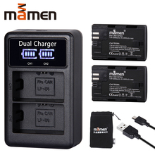 2600mAh LP E6 LP-E6 LPE6 Digital Camera Battery +USB LCD Dual Charger for Canon Mark II Mark III 6D 7D 60D 60Da 70D 80D 5DS 5D 2600mah lp e6 lp e6 digital camera battery usb charger for canon eos 5d mark ii 2 iii 3 6d 7d 60d 60da 70d 80d dslr eos 5ds