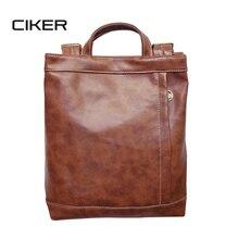 Ciker марка женщины кожа рюкзак старинные большой емкости пу случайные дорожные сумки рюкзаки для девочек-подростков школьные сумки mochilas