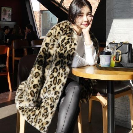 Outwear Leopard De 2018 Furry Multi Faux 6xl J399 Fourrure Surdimensionné Femmes Imprimé Vison Manteau 5xl D'hiver Veste Léopard qBww7I