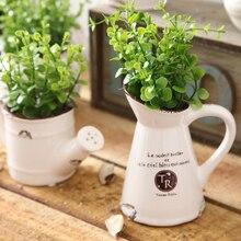 Керамический цветочный горшок для оформления дома, пасторальный стиль, искусственный цветок, красивая цветочная ванна для настольного декора, садовые украшения, ваза