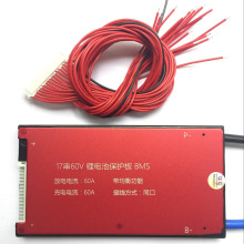 Waterproof 17S 60V 25A 35A 45A 60A BMS PCB PCM for Lithium Battery with Balance Function