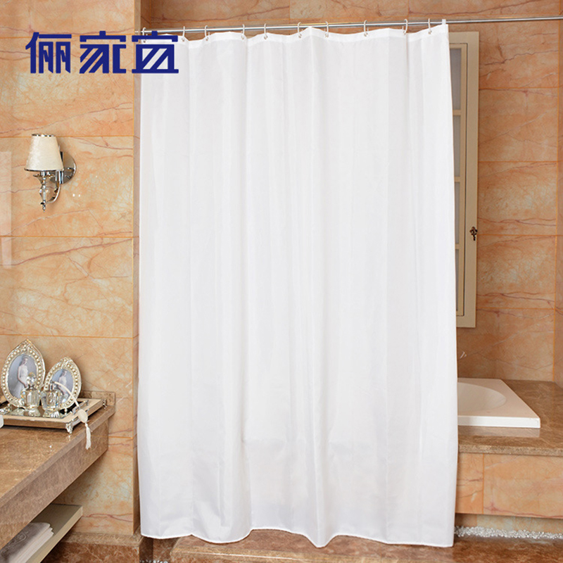 Plain white Shower Curtains Modern waterproof Polyester Shower ...