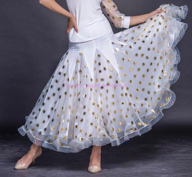 538d6779b04c12 Nouveaux costumes de danse salon senior Dot jupe pour les femmes jupes  longues S 6XL peuvent être libres faire