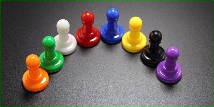 48 pezzi di plastica multicolor pedine per segnapunti da tavolo giochi da