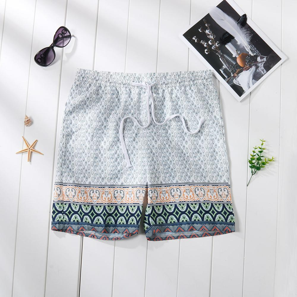 Men's Swim Beach   board     Shorts   Trunks Water   Shorts   Bohemian Patchwork Surfboard Suits Plus Gym Training Quick Dry Droipship#0712