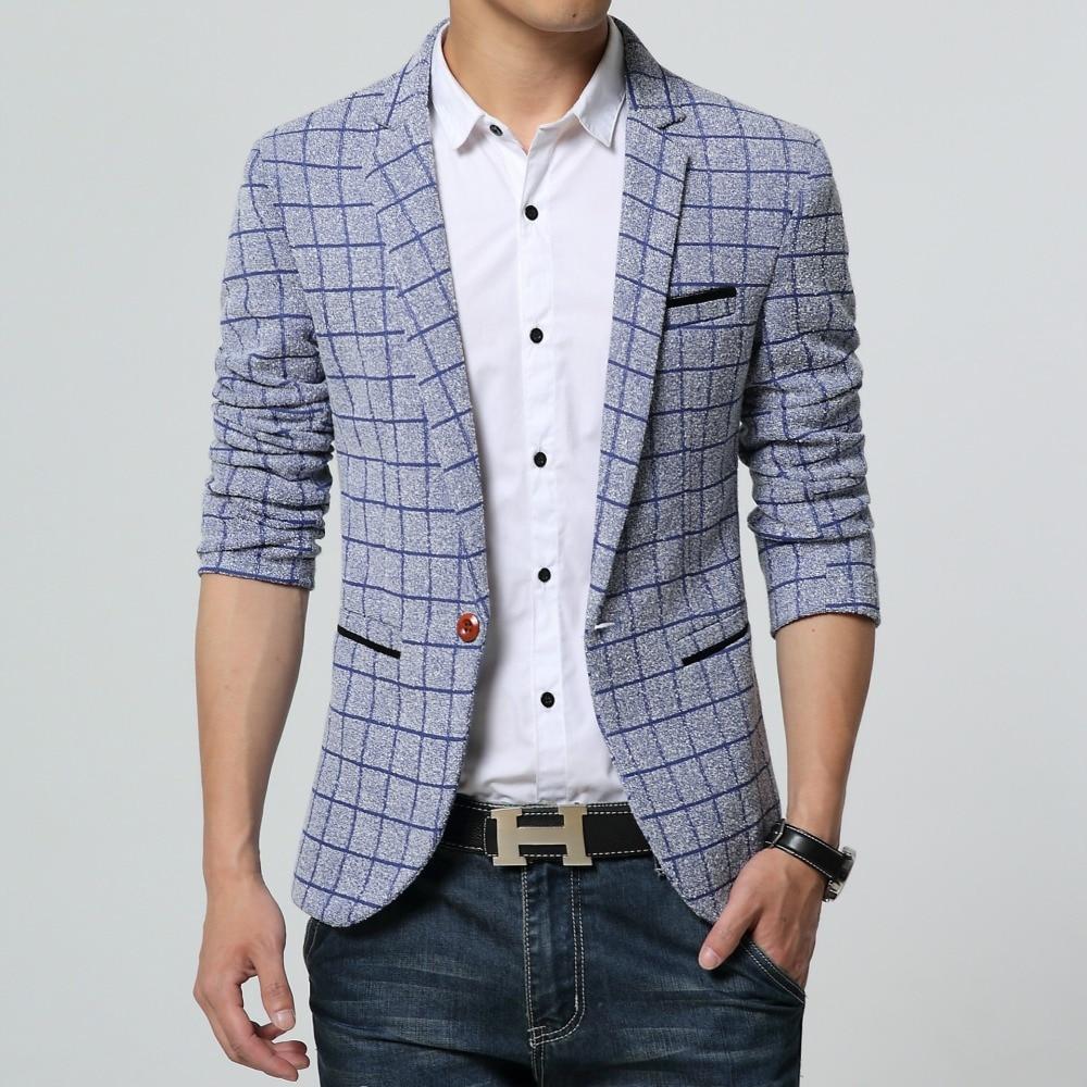 Blazers Jackets Mens: High End Men Blazer New Fashion One Button Blazer Men