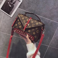 New cross border printing flap bag Messenger Bag Women Handbag retro rivet Female Shoulder Bags Ladies Party Handbags