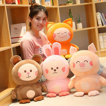 1pc 30/40cm Cute 6 Kinds Of Animal Toys Soft Stuffed Animals Dolls Toy for Children Baby Girls Christmas Gifts Birthday Presents 100pcs lot high quality mini cute animals dolls cartoon animal action figures toys birthday gifts children christmas gift