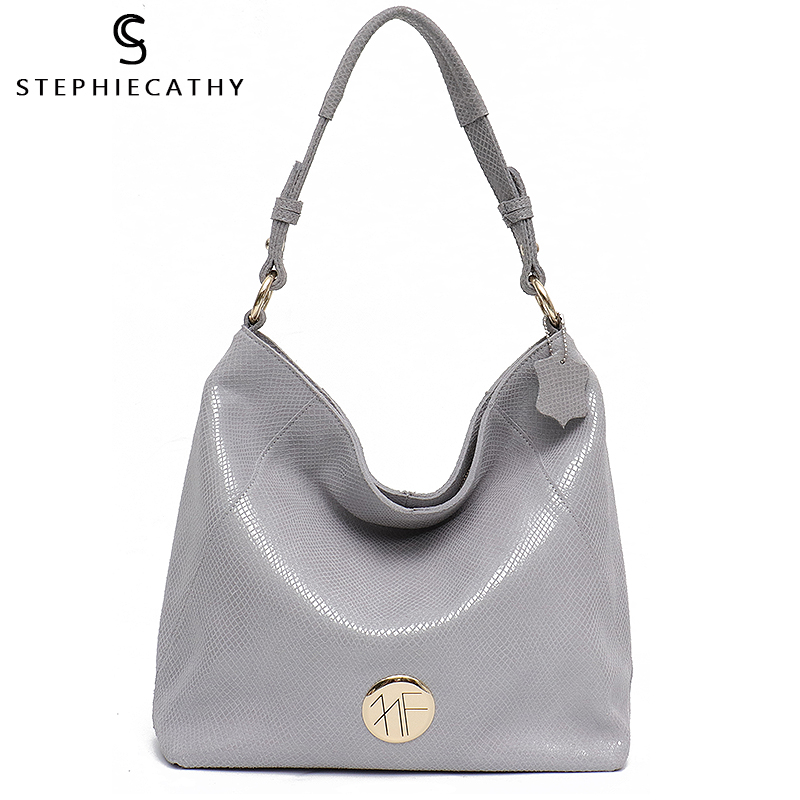 SC Large Woman Leather Tote Snake Print Shoulder Bag Female High Quality Cow Leather Hobo Soft