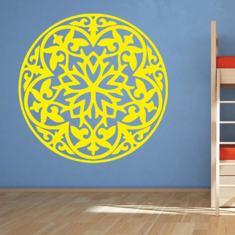 Flower Wall Decal Vinyl Stickers Art Decor Mandala Menhdi Om Indian ...