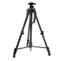 Black Folding Easel Aluminium Alloy Painting Easel Frame Artist Adjustable Tripod Display Shelf for Outdoors Painting from Life