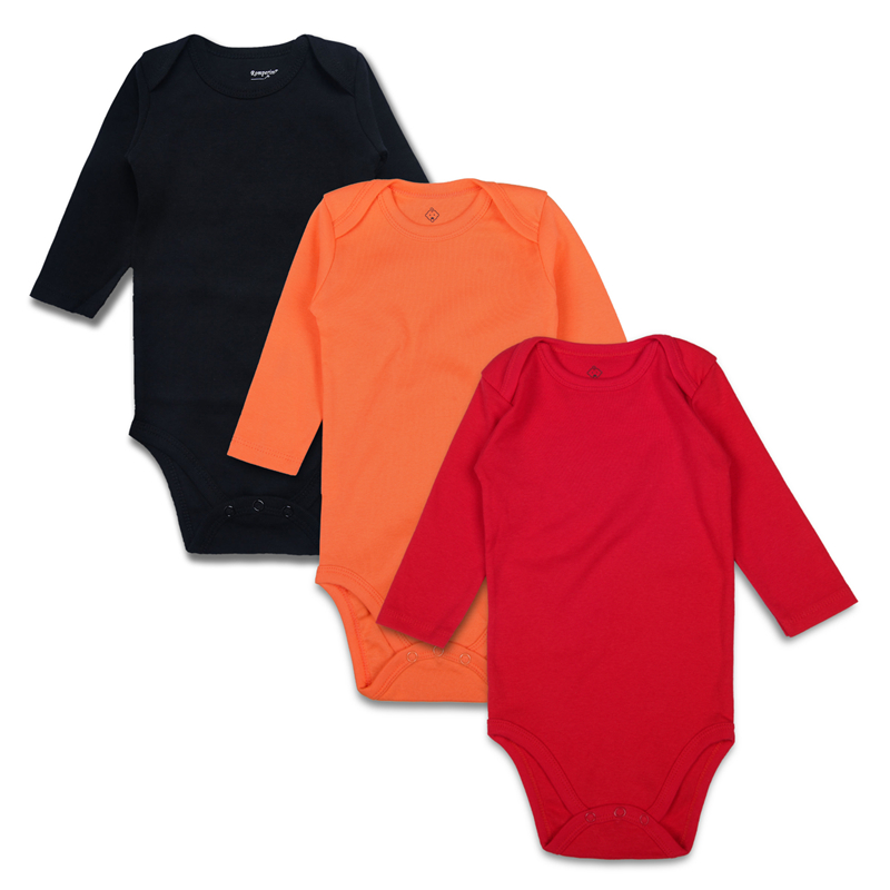 5.solid baby bodysuits BK-OR-RE