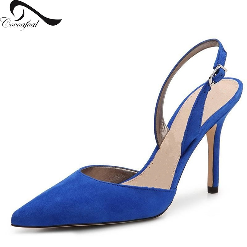 ФОТО pointed toe shoes woman 2017 Spring/Autumn Euramerican style Latest fashion womens Leisure black high heel shoes Super size 9.5