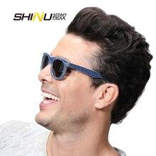b08084e2ec Shinu gafas de marca gafas de sol cuadradas gafas de diseño de mezclilla  moda mujer hombre sh008