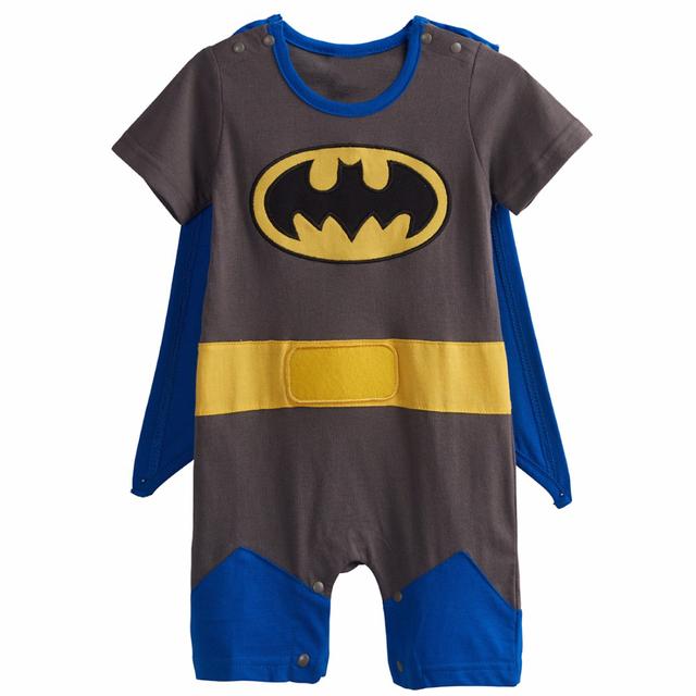 Bébé Garçons Robin Barboteuses Costume Superhero Costume Pour Garçon Salopette À Manches Courtes avec Cape Taille 0-24 M