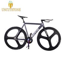 TRACK  Bike 54CM DIY 700C Fixie frame Aluminum alloy Fixed Gear Track Bicycle Magnesium Alloy wheel