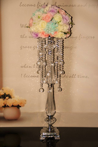 wedding candy bar decor acrylic beads wedding flower holder cake stand celebration party home table decoration