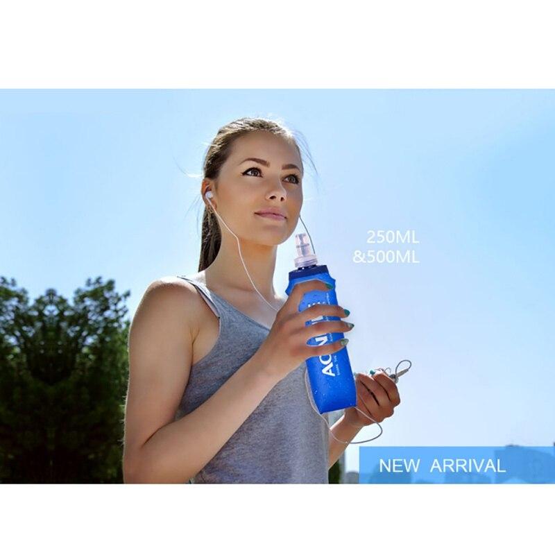 Outdoor 250ml/500ml Outdoor Sports Bag Foldable BPA PVC Free Soft Water Bag Kettle Camping Hiking Walking Running Travel