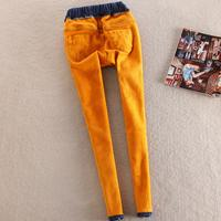 Winter Warm Jeans Women High Waist Jeans Stretching Skinny jeans elastic waist Large Size