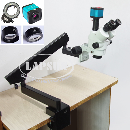 Simul Focal 3 5X 90X Trinocular Industrial Inspection Zoom Stereo Microscope 14MP USB HDMI Video Camera