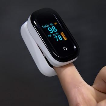 BOXYM Medical Finger Pulse Oximeter OLED Touch Full Screen blood oxygen Heart Rate Monitor Oximetro de dedo Saturometro Monitor 3
