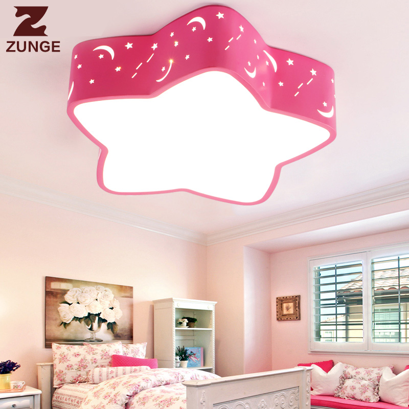 ZUNGE Children's room lights cartoon creative pentagram boys and girls led light in the bedroom P134 LED ceiling lights creative cartoon baby cute led act the role ofing boy room bedroom chandeliers children room roof plane light absorption