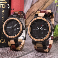 BOBO BIRD Luxury Wood Men Watch relogio masculino Designer A