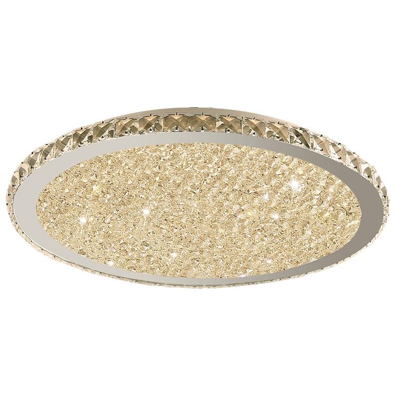 Lustres en cristal modernes lumières éclairage à la maison ledlamp salon chambre plafonnier LED ronde lustre lampadari luminaires - 6