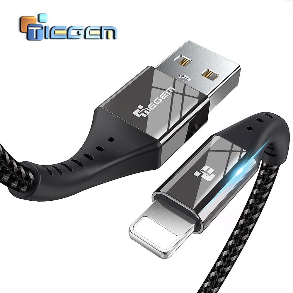 TIEGEM USB Зарядное устройство кабель для <font><b>iPhone</b></font> X 8 8 <font><b>Plus</b></font> Кабель быстро Зарядное устройство адаптер 8 Pin для <font><b>iPhone</b></font> <font><b>6</b></font> S 5 5S SE iPad мобильный телефон кабели