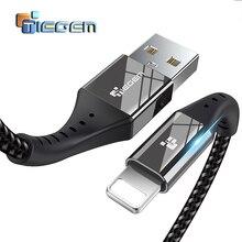 TIEGEM USB Cable cargador para iPhone X 8 8 más Cable cargador rápido Adaptador 8 Pin para iPhone 6 6 S 5 5S SE iPad teléfono móvil Cables