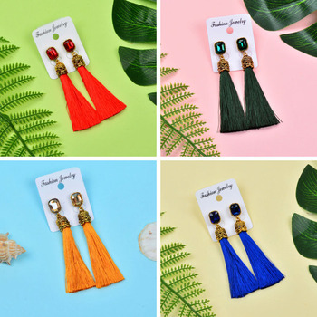 Square Cubic Zirconia Long Silk Tassel Earrings Earrings Products under $30 8d255f28538fbae46aeae7: black|blue|colors|gray|green|light blue|Multicolor|pink|purple|red|white|yellow