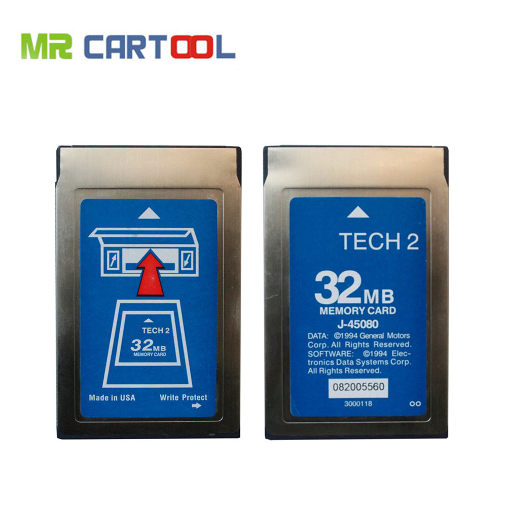 Newest Tech2 32MB Card For SAAB OPEL GM ISUZU SUZUKI Holden Professional Memory Tech 2 Card 6 Software Optional Free Shipping