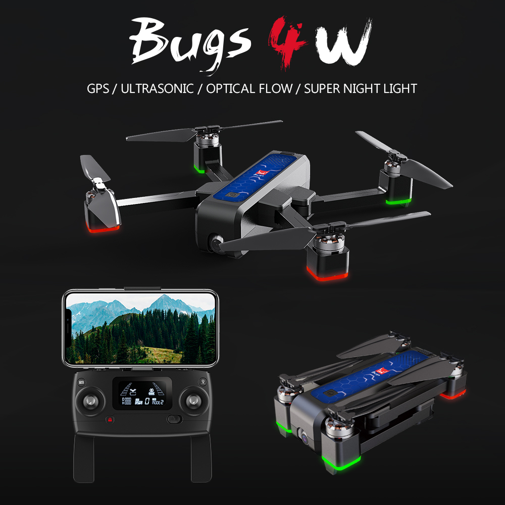 MJX Bugs4 W B4W 5G WIFI FPV GPS Brushless Foldable Ultrasonic RC Drone 2K Camera Anti-shake Optical Flow RC Quadcopter VS F11