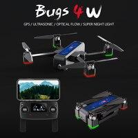 MJX Bugs4 W B4W 5G WIFI FPV GPS Không Chổi Than Có Thể Gấp Lại Siêu Âm RC Drone 2 K Camera Chống quang học Lưu Lượng RC VS F11