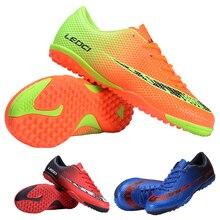 LEOCI Fútbol Zapatos botas Unisex Botas De Fútbol Botas de Fútbol de interior zapatos de fútbol para adultos de los niños 33-44 tamaño tren de las Zapatillas de deporte