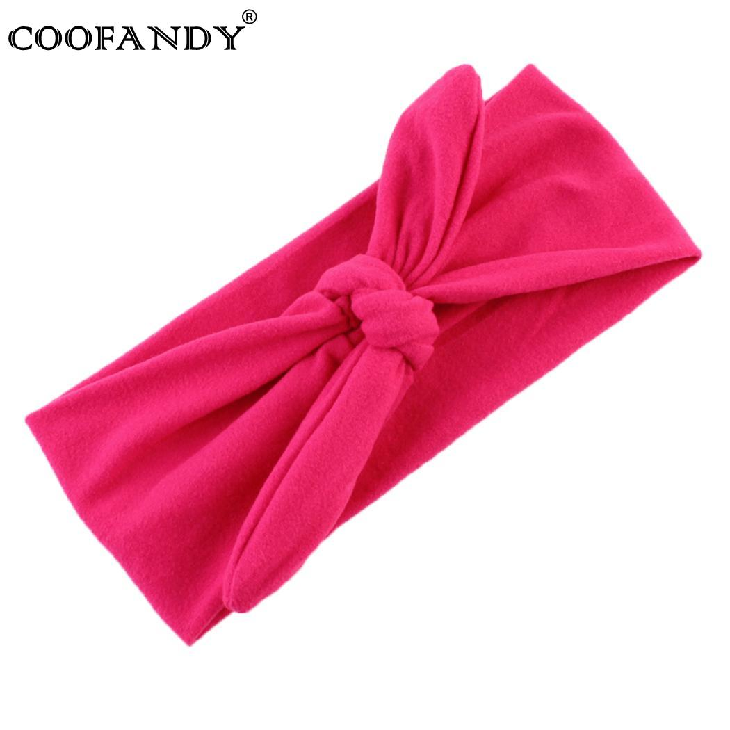 Accessories Twist Bow Headbands Elastic Head Wrap Support Hair Ladies
