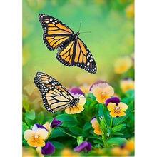 Yikee 5d алмазная живопись полная квадратная бабочка diy Алмазная