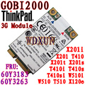 Thinkpad x201 lenovo w510 t410 3g módulo wwan gobi2000 tarjeta 60y3263
