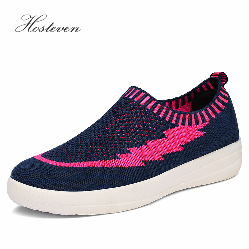 Hosteven Women Shoes Sneakers Casual Sport Flats Shoes Spring Summer Loafers Breathable Air Mesh Walking Shoes toursh 2018 summer women shoes light sneakers breathable mesh beach shoes female cheap casual outdoor lady walking flats shoes