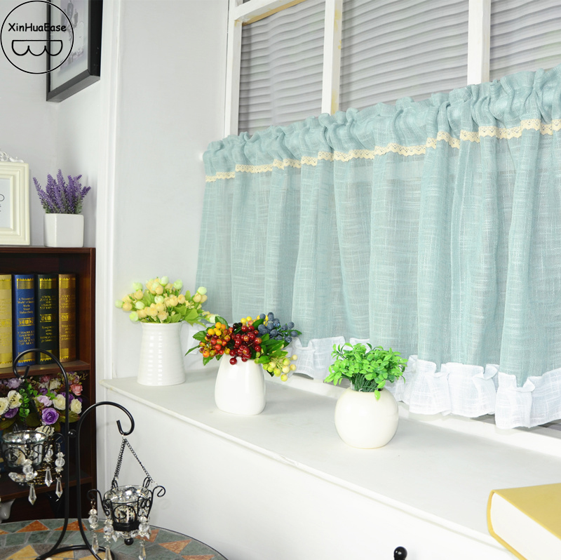 The Short Curtains In The Kitchen Partition Tulle Cortinas Yarn On The  Window Sheer Curtain Door