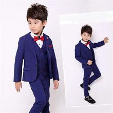 Однотонный синий черный винный Детский костюм нежный для мальчика