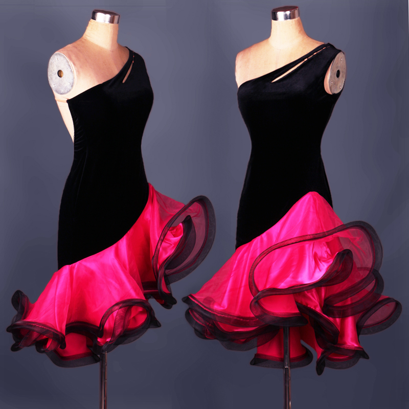 Latin Dance Competition Dress Adult Women Tango Rumba Cowboy Rodeo Dress Performance Clothing A