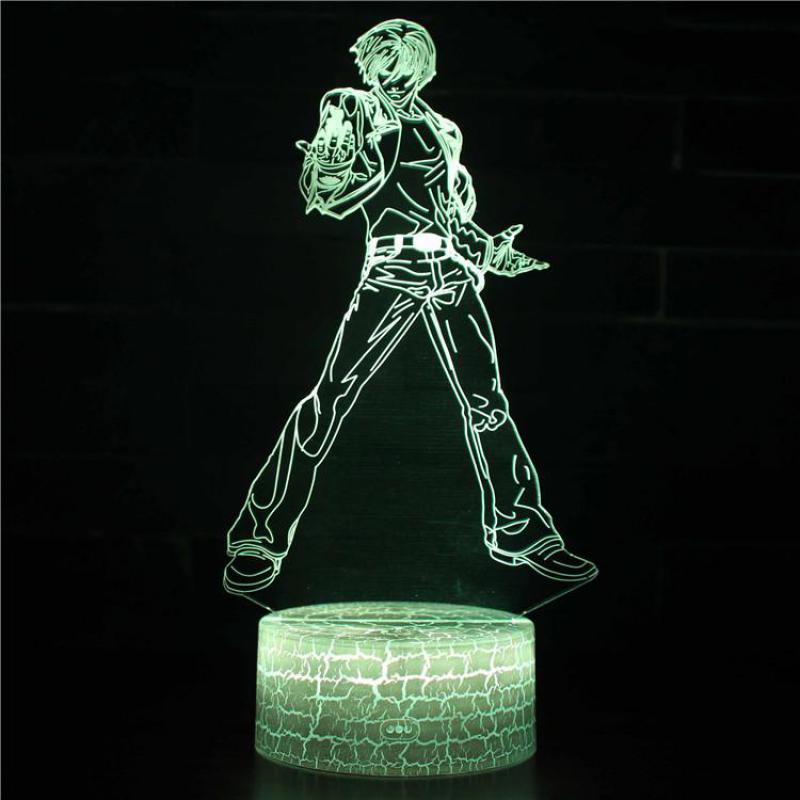 Led Lamps Anime Handle 3d Desk Lamp Christmas Decorations Gift For Baby Room Lights Wholesale White Base Lovely 7 Color Change 3d Lamp Led Table Lamps
